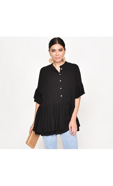 Georgia Ruffle Oversized Shirt Size ML