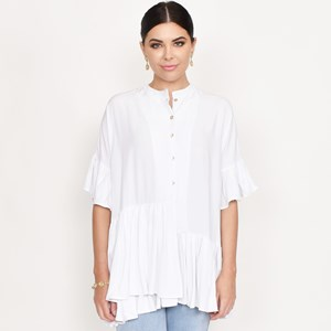 Georgia Ruffle Oversized Shirt