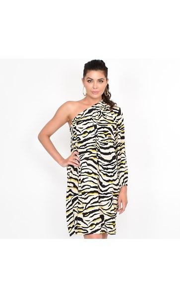 Cleo One Shoulder Dress Size SM