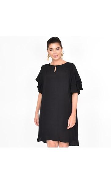 Harper Frill Sleeve Dress Size ML