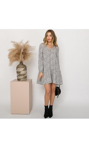 Evelyn Cheetah Babydoll Dress Size 8