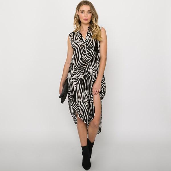 Zoe Scooped Hem Midi Dress  Size 8