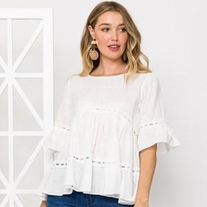 Poppy Lace Detail Blouse Size S/M