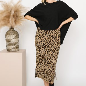 Isla Leopard Knit Skirt Medium