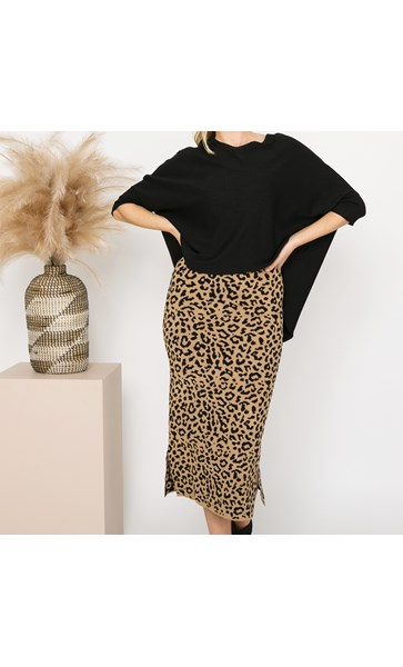 Isla Leopard Knit Skirt Medium