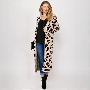 Freya Leopard Print Knit Cardi Small