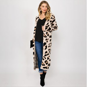 Freya Leopard Print Knit Cardi Medium
