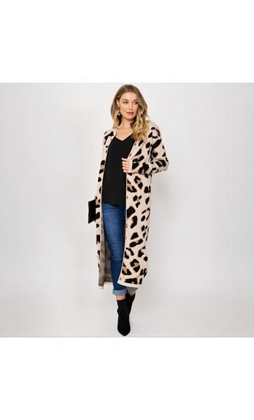 Freya Leopard Print Knit Cardi Large
