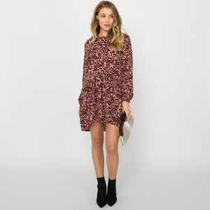 Charlie Leopard Drop Waist Dress Size S
