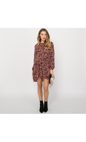 Charlie Leopard Drop Waist Dress Size S