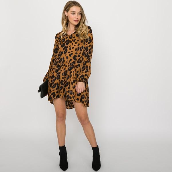 Mia Leopard Print Drop Waist Dress