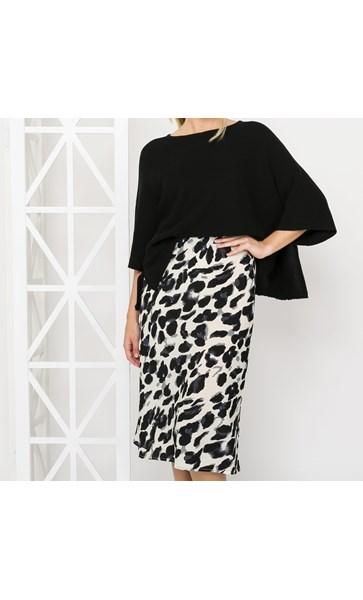 Chi Chi Animal Print Midi Skirt Small