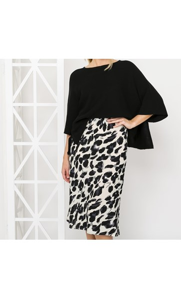 Chi Chi Animal Print Midi Skirt Medium