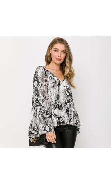 Marnie Snake Print Top X Large