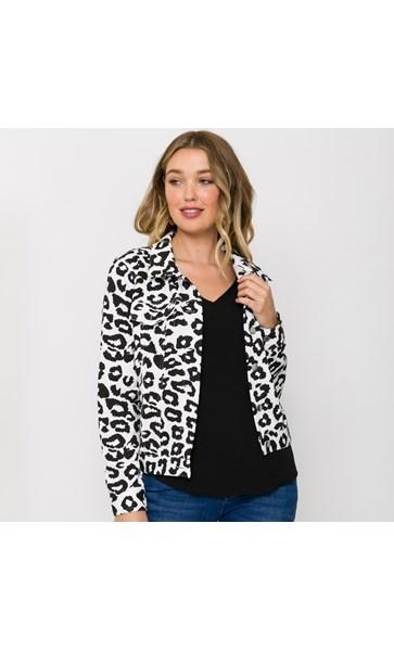 Grace Leopard Print Jacket Size M