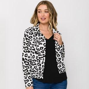 Grace Leopard Print Jacket Size XL