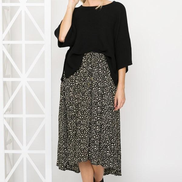 Stella Pebble Print High Low Skirt Medium