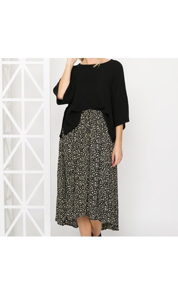 Stella Pebble Print High Low Skirt X Large