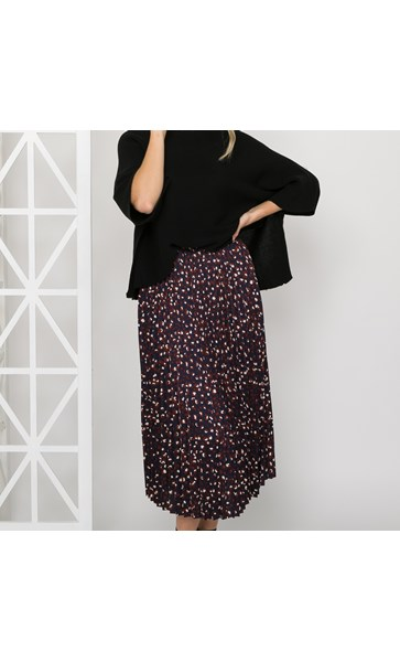 Bella Pleated Leopard Skirt Size 10