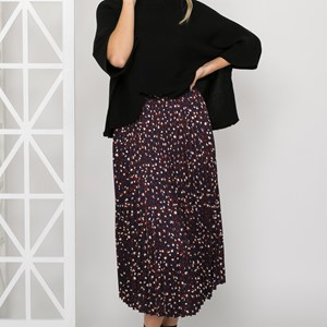 Bella Pleated Leopard Skirt Size 12