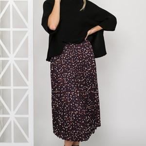 Bella Pleated Leopard Skirt Size 14