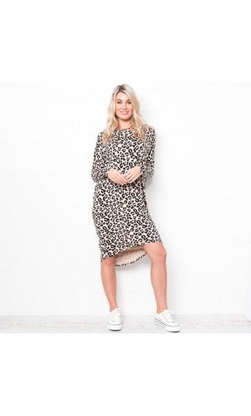 Billie Leopard Shift Dress Size S