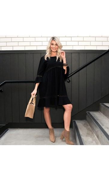 Cassie Lace Detail Dress Size SM