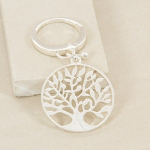 Filigree Willow Tree Disk Keyring