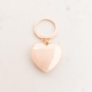 Xlarge Metal Heart Keyring