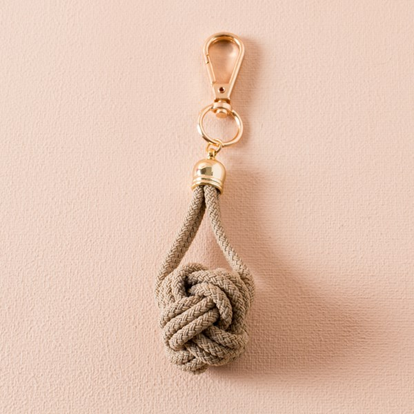 Knotted Ball Cord Key Ring