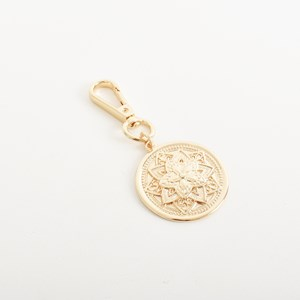 Pattern Disc Key Ring