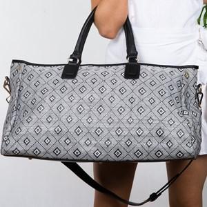 Diamond Weave Weekender Bag