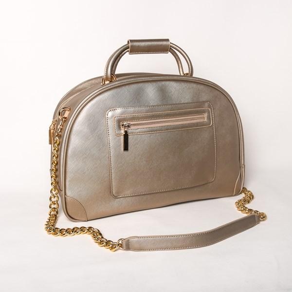 Textured Travel Shoulder Bag
