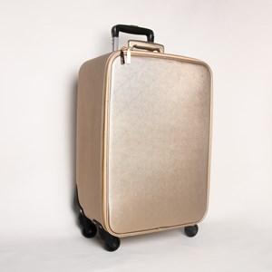 Textured Metallic Wheelie Bag