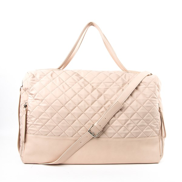 Quilted Zip Detail Overnighter Bag