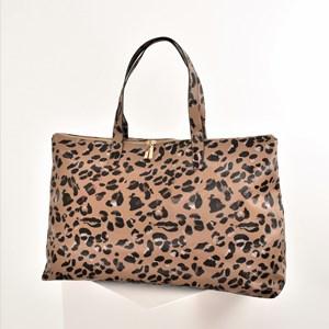 Abstract Leopard Print Weekender Bag