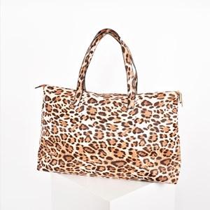Leopard Print Weekender Bag