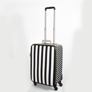 Spots & Stripes Print Clash Wheelie Bag