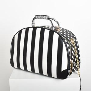 Spots & Stripes Print Clash Travel Shoulder Bag