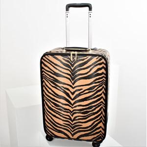 Zebra Print Wheelie Bag
