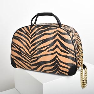 Zebra Print Travel Shoulder Bag