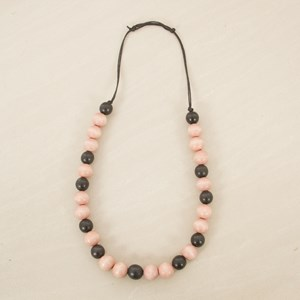 Timber Ball Adjustable Back Necklace