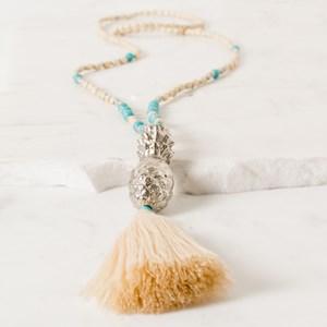 Pineapple Tassel Stone Mix Necklace