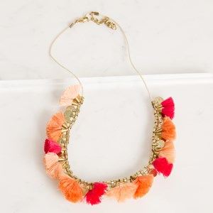 Mini Tassel and Disc Necklace