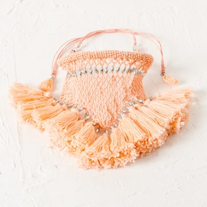 Seed Bead Fringe Collar Necklace