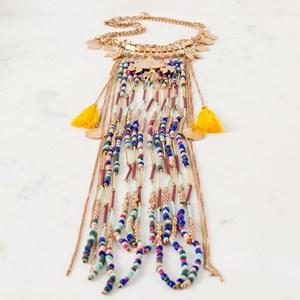 Indian Princess Beaded Long Necklace