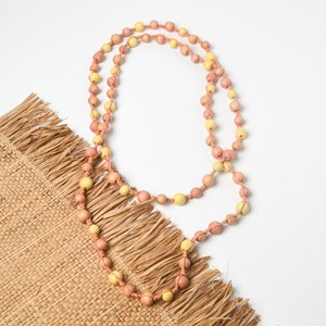Long Knotted Timber Necklace