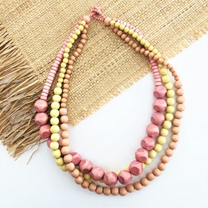 Tri Tone Timber Short Necklace