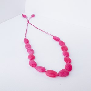 Knotted Resin Moulded Ovals Necklace