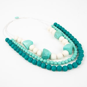 Trio Timber Pod Cord Back Necklace